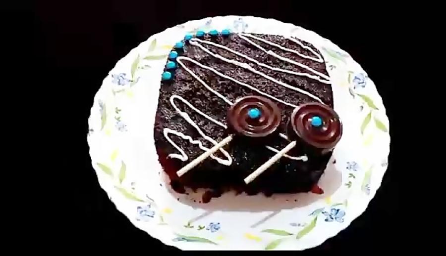 تزئین ساده کیک با شکلات