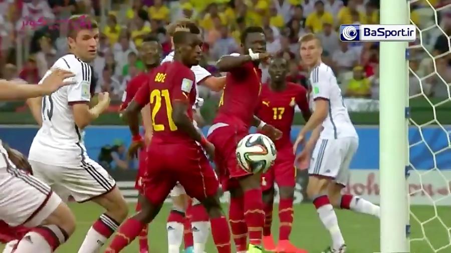 خلاصه بازی آلمان 2-2 غنا (جام جهانی 2014)