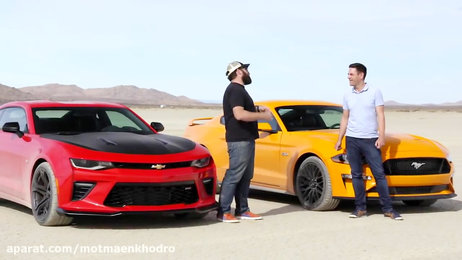 Desert Drag Race! Mustang GT vs Camaro SS 1LE - Head 2 Head Preview Ep. 98