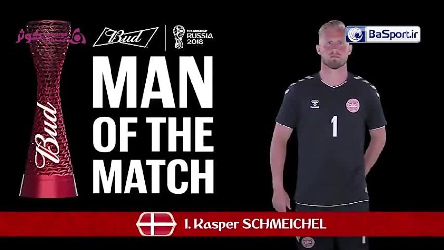 اشمایکل؛ بهترین بازیکن دیدار کرواسی - دانمارک