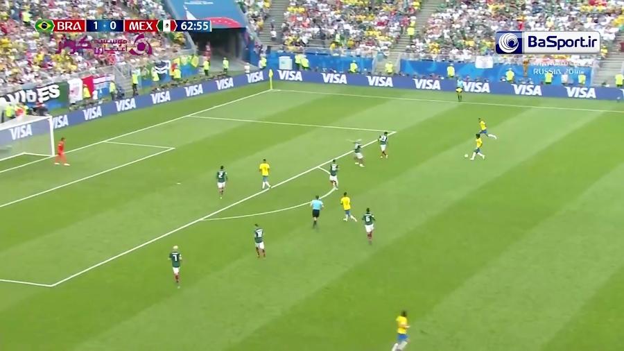 خلاصه بازی برزیل 2-0 مکزیک (HD| درخشش نیمار)
