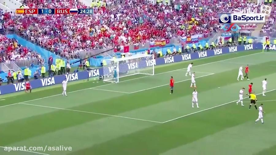 خلاصه بازی روسیه (4)1-1(3) اسپانیا (ترکی)