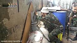 نبرد سنگین تانک های ارتش سوریه در جوبر و انهدام تانک