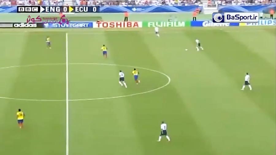 خلاصه بازی انگلیس 1-0 اکوادور (جام جهانی 2006)