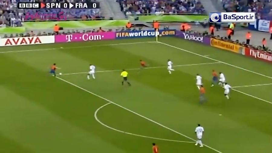 خلاصه بازی فرانسه 3-1 اسپانیا (جام جهانی 2006)