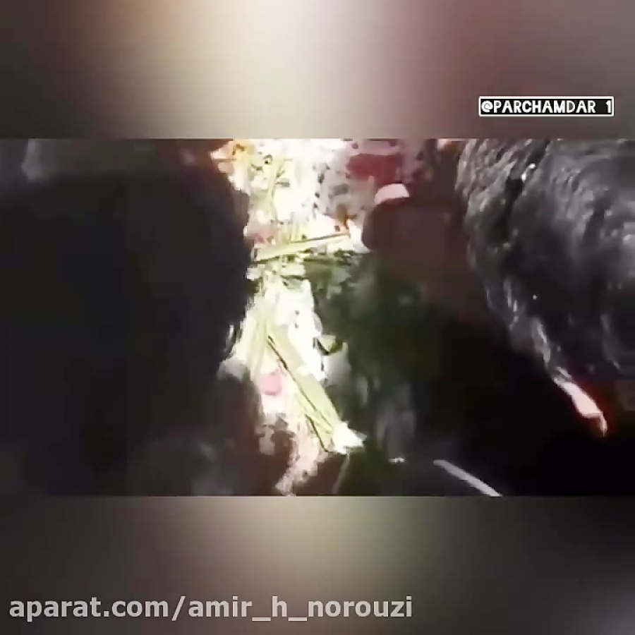 پایان مراسم تشییع پیکر وحید مرادی'vahid moradi