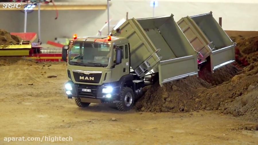 کامیون کنترلی در پروژه ساخت و ساز