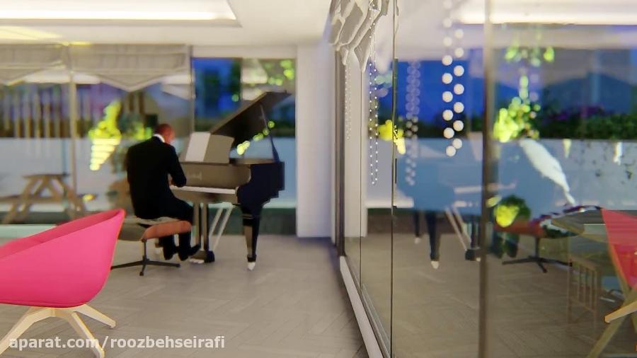 انیمیشن طراحی داخلی بام ولنجک