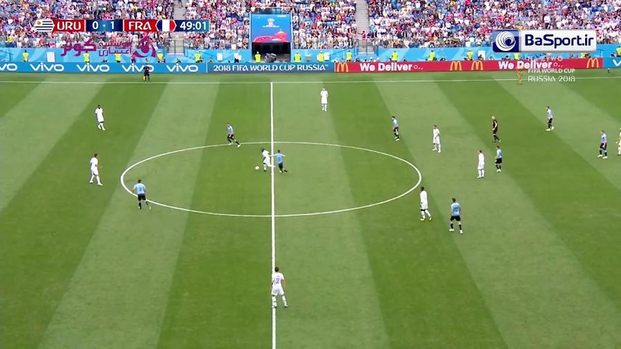 نیمه دوم بازی اروگوئه - فرانسه (HD)