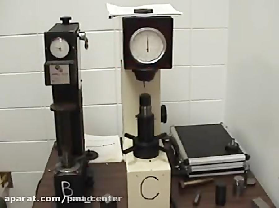 این فیلم جزییات  آزمایش سختی سنجی راکول نشان میدهد