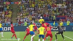حذف برزیل توسط بلژیک از...