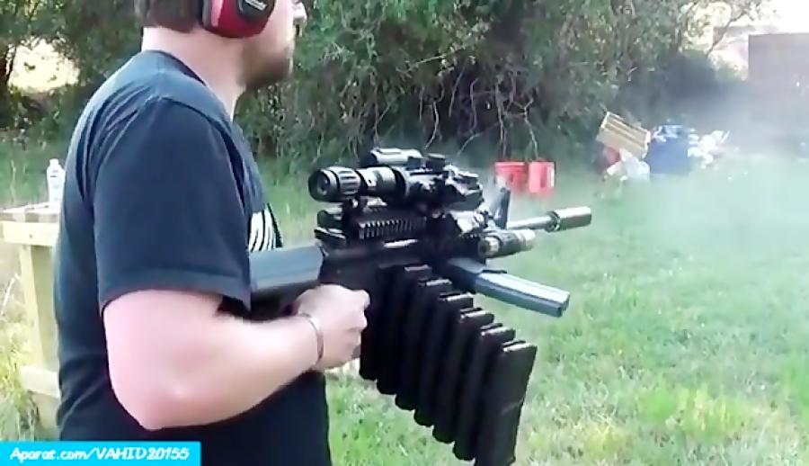 شلیک با اسلحه رگباری قدرتمند و عجیب