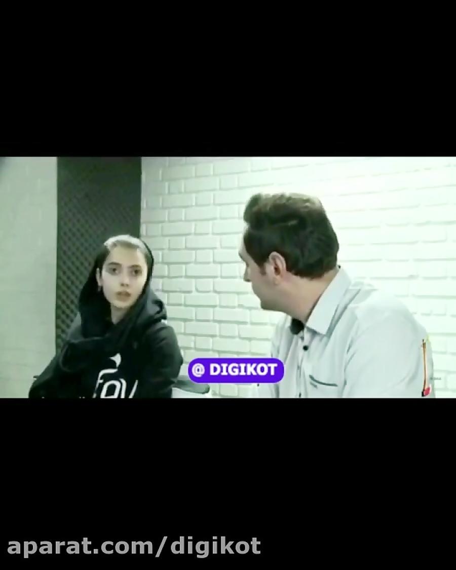 گریه مائده هژبری رقاص معروف اینستاگرام در شبکه اول سیما