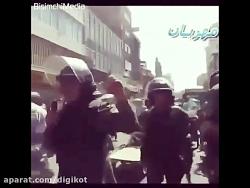 توصیه پلیس ضد شورش تهران با بلندگو به کسبه تهران