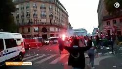 شادی فرانسوی ها پس از ر...