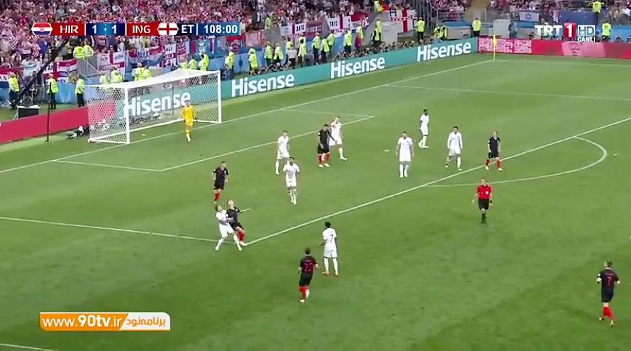 گل دوم کرواسی به انگلیس (مانژوکیچ)