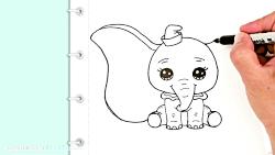 آموزش کشیدن نقاشی فیل
