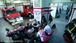 فیلمی عجیب از طرفداران فوتبال در کرواسی