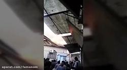 آتش سوزی مسجد جامع ساری ، آتش سوزی بازار ساری