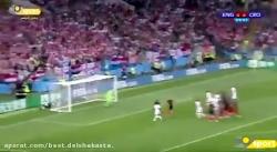انگلیس در یک قدمی صعود به فینال؛گل اول انگلیس به کرواسی