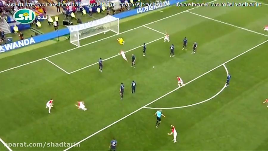 گلهای دیدنی بازی فینال فرانسه کرواسی در جام جهانی 2018