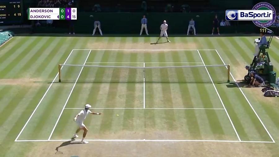 خلاصه تنیس اندرسون 0-3 جوکوویچ (فینال ویمبلدون)