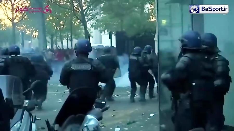 درگیری پلیس با هواداران فرانسوی در جشن قهرمانی