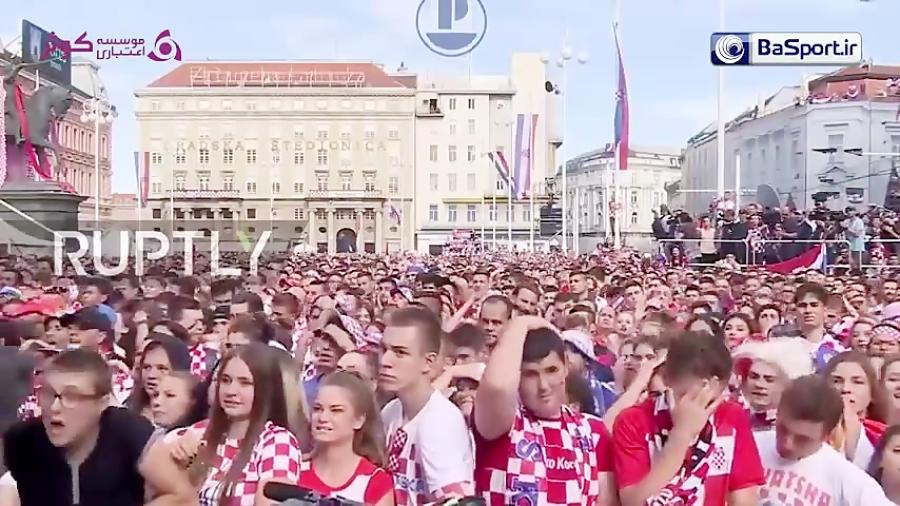 واکنش هواداران کرواسی در طول بازی فینال جام جهانی