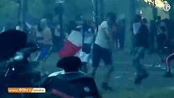 درگیری پلیس و طرفداران ...