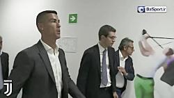 ورود رونالدو به تورین ج...