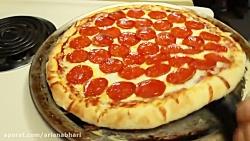 لذت آشپزی - طرز تهیه پیتزا - پیتزا پپرونی