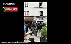 ضرب و شتم یک معترض توسط دستیار امانوئل مکرون