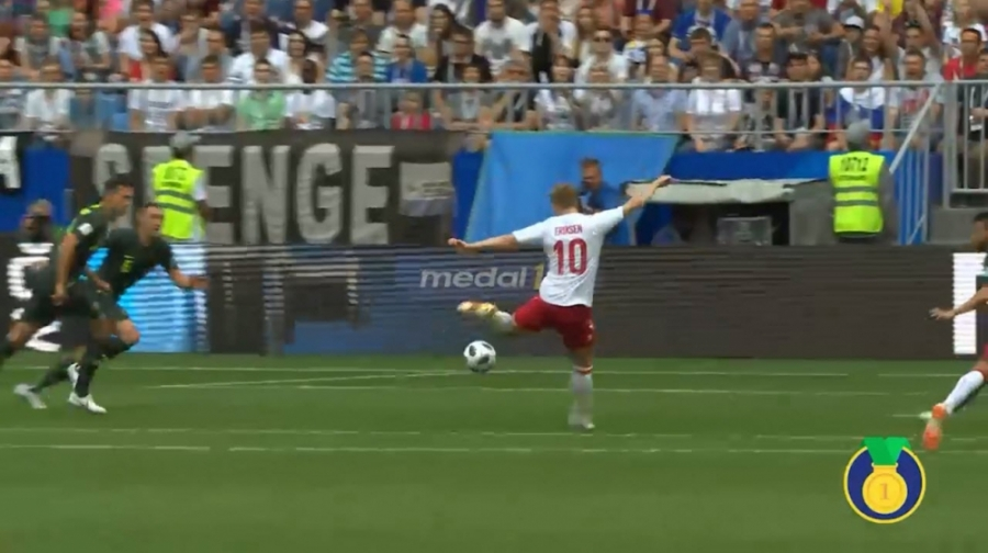 سوپر گل های جام جهانی(8) «کریستین اریکسن» به استرالیا