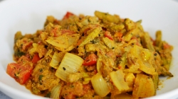 طرز تهیه بامیه دو پیازه | یک غذای خوشمزه هندی