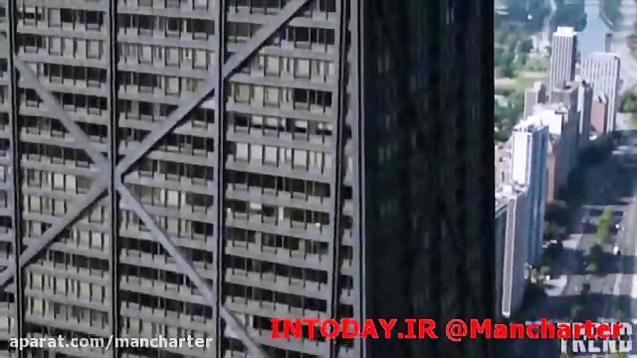 شیشه وحشت در برج 50 طبقه شیکاگو