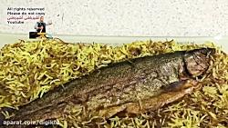 رشته پلو با ماهی دودی