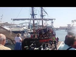 کشتی سواری در بندر بارسلون