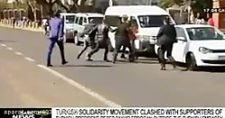 ویدیو حمله وحوش اردوغان به اعتراض کننده گان به اردوغان