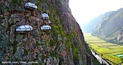 کلیپی از لوژهای مجلل روی دیواره صخره های پرو