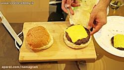 آموزش تهیه همبرگر خانگی خوشمزه در فودآکادمی آشپزی