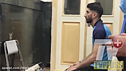 نماز شکر بیرانوند در حرم امام رضا
