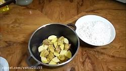 آموزش آشپزی طرز تهیه ته دیگ مرغ و سیب زمینی