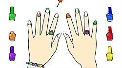 نقاشی و رنگ آمیزی ناخن ها برای کودکان
