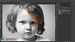 آموزش رنگ کردن تصاویر سیاه و سفید در فتوشاپ | الوبنر
