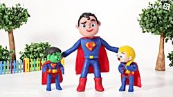 HULK POLICE STOPS SUPERMARKET CART ❤ Spiderman, Hulk Frozen Play Doh Cartoons For Kids