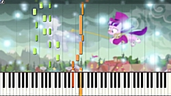 The Seeds of the Past - My Little Pony:FIM - |PIANO COVER w LYRICS| -- Synthesia HD