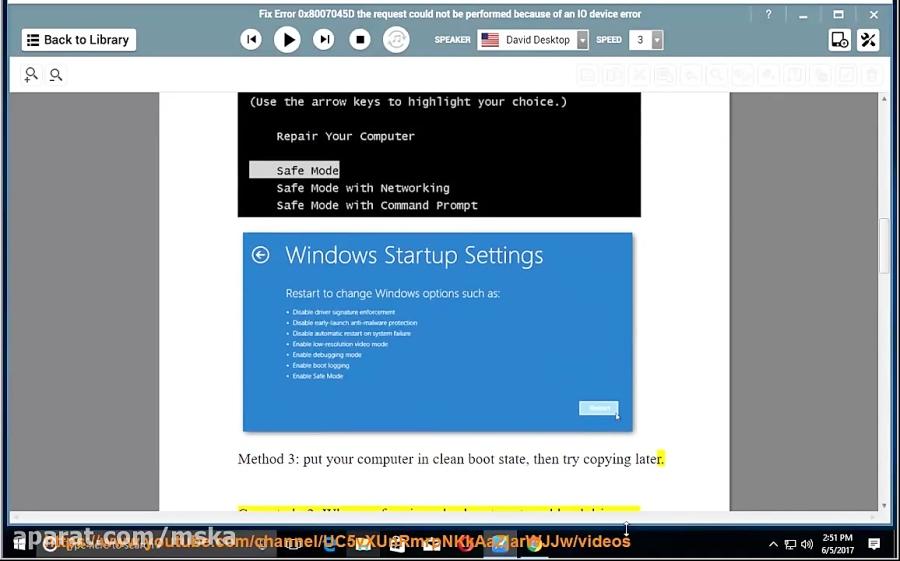 دانلود کلیپ Fix Error 0x8007045D: the request could not be performed
