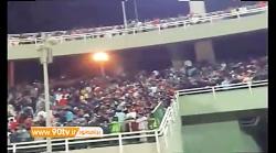 اختصاصی نود   درگیری شدید هواداران در بازی پرسپولیس و استقلال خوزستان