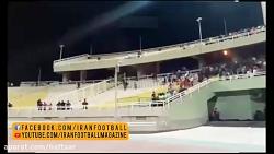درگیری شدید هواداران در بازی استقلال خوزستان و پرسپولیس