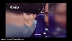 ویدیو از خواندن امید حاجیلی در هواپیما و رقص دختر خردسال